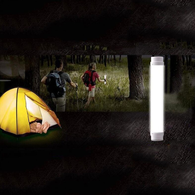 Outdoor LED Tube 5V USB Rechargeable Led Emergency light White T8 tube 5 Model Flashlight dimmable  Portable lampfor campping