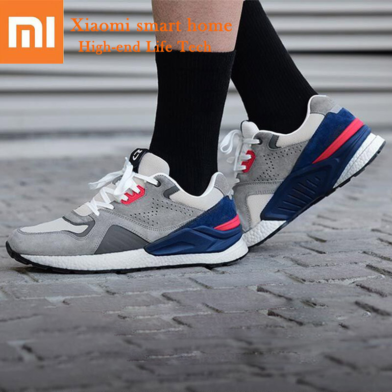 Xiaomi mijia Retro Sports Running Shoes High elastic Rebound Sneaker light Comfortable Breathable Fashion Classic Shoes