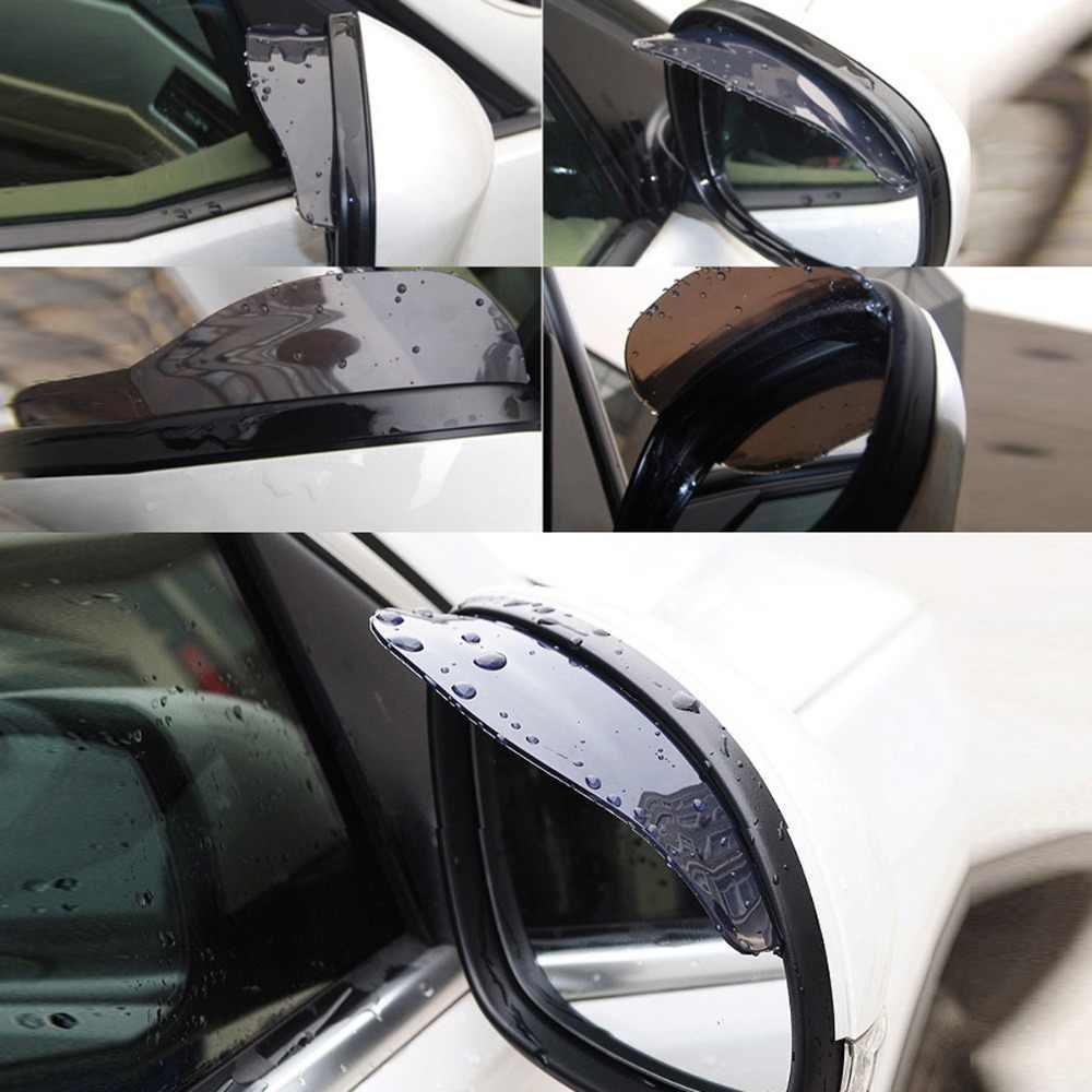 Araba Yağmur Kalkan Esnek Lastik Araba dikiz aynası Yağmur Gölge Duş Engelleyici Kapak Güneşlik Gölge Kurulu otomotiv yağmur kılıfı
