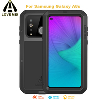 For Samsung A8s Case LOVEMEI 0.6m Waterproof Powerful Metal Case for Galaxy A8S Luxury Aluminum Dirtproof Shockproof Splashproof