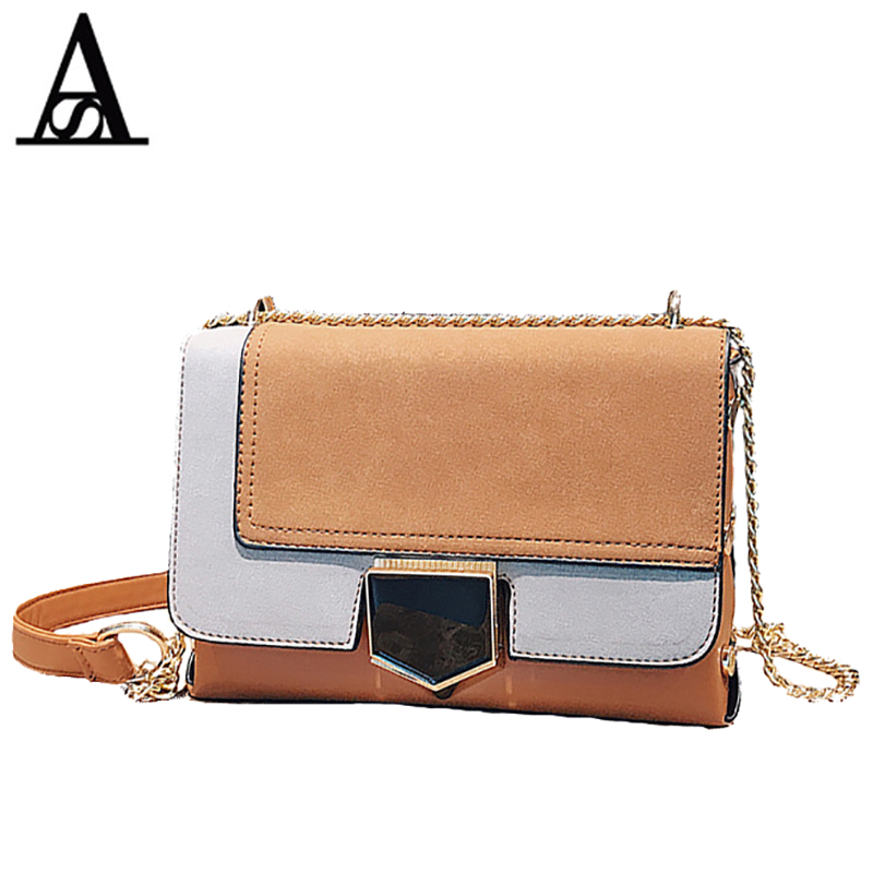 AITESEN Scrub Small Square Package Luxury Chain Single Shoulder Michael OBag Panelled David Jones Bolsa Feminina De Marca Famosa ...