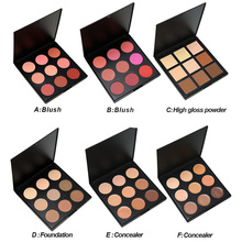 Make up 9 Color Eye shadow palette Blush Palette Make up Pallete Face Blusher Contour Powder Palette Cosmetic Facial Foundation serseul portable 78 color cosmetic makeup eye shadow blusher palette with smudger