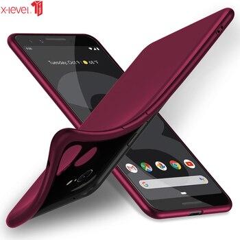 Перейти на Алиэкспресс и купить X-Level Мягкий ТПУ чехол для Google Pixel 4 3 3a XL, Роскошный Матовый сенсорный ультратонкий чехол для задней панели телефона Google Pixel3, чехол 3XL 4XL