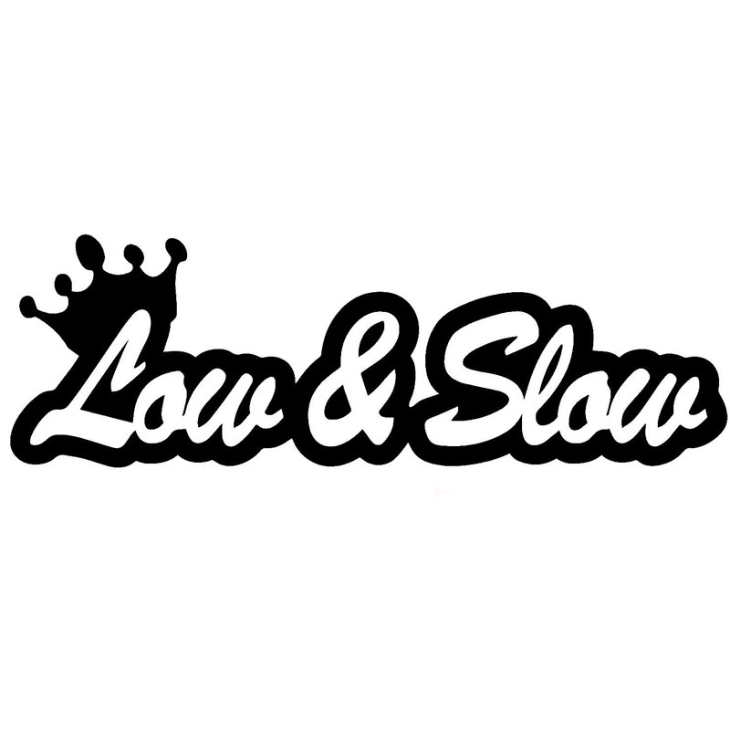 17.8CM*6.1CM Low and Slow Funny JDM Vinyl Decal Sticker Car Window Car Stickers Car Styling Accessories Black Sliver C8-1218
