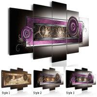5 Stks/set Mode Muur Canvas Schilderij Abstracte Patronen van Nationale Kenmerken Moderne Woninginrichting Geen Frame