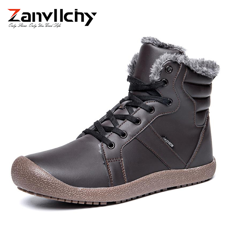 Super Warm Men Winter Boots for Men Warm Waterproof Rain Boots Shoes 2018 New Men's Ankle Snow Boot Botas Masculina Bota Work цена