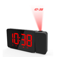 Creative Digital Alarm LED Clock FM Radio Projection Clock Snooze Electronic Desk Clock Radio Reveil Projector Clock