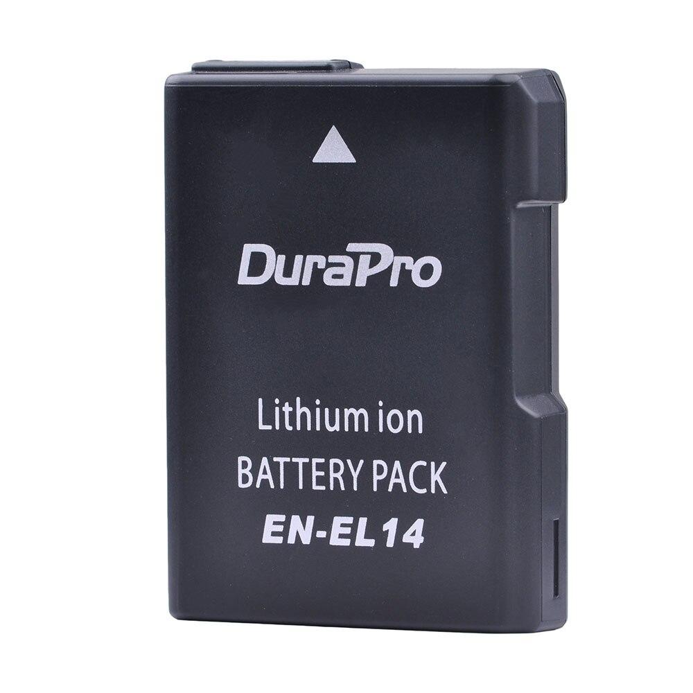DuraPro EN-EL14 EN EL14 EN EL14 1200mAH Rechargeable Li-ion Camera Battery For Nikon D5200 D3100 D3200 D5100 P7000 P7100