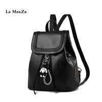 La MaxZa New Shoulder Bags Leisure Student Backpack Black School Bags Women Backpack Purse Lightweight Fashion School Backpacks