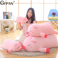 80cm Bigger Size Toys Cartoon Pink Pig Plush Toys Pig Pillow Soft Cushion Chinese Zodiac Pig Doll Birthday Gift For Kid Baby