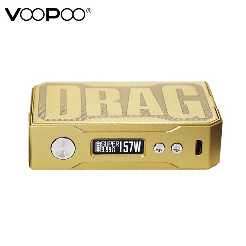 D'origine VOOPOO GLISSER 157 w TC Boîte MOD e cigarette 18650 boîte mod Vaporisateur avec NOUS GÈNE puce de Contrôle De La Température résine mod VS Smok Mod - 5