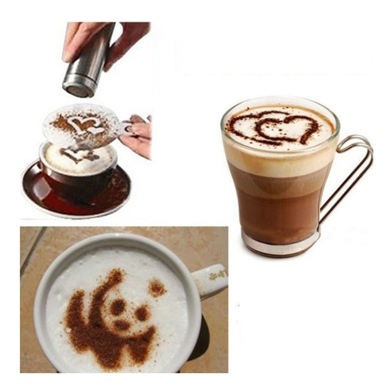 16pcs/set Barista Tools Coffee Accessories Cafe Flower Printing Model For Kitchen Cappuccino Latte Art Plastic Decoration Tools