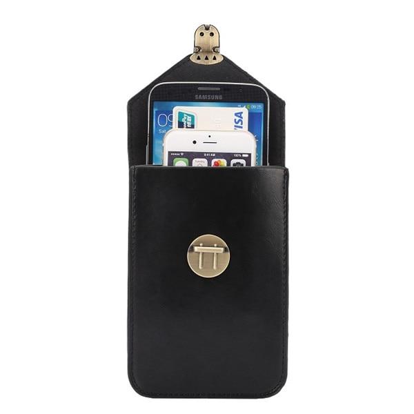 Nueva capa intermedia de bloqueo de lujo cajas del teléfono bolsa de cuero para