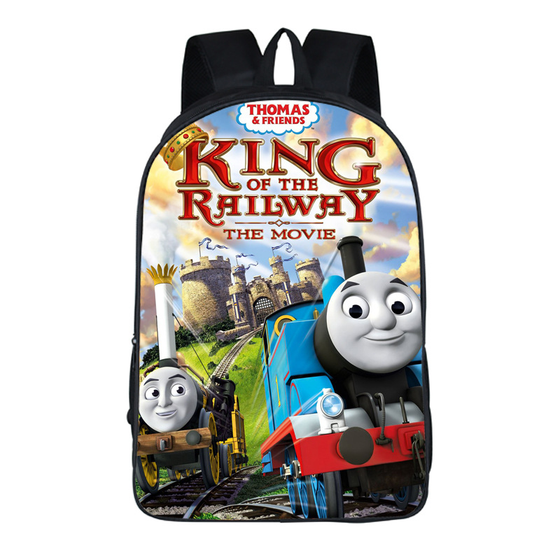 King of the Railway New Term Boys Girls School Bag Cartoon Printing Fashion Backpack Kids Children Bag Mochila
