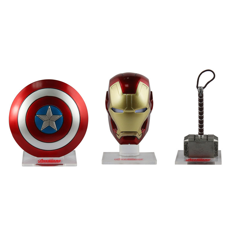 3pcs/set Avengers Captain America Shield Iron Man Helmet Raytheon Hammer Desktop Decoration Car Accessories Sd396 Back To Search Resultstoys & Hobbies
