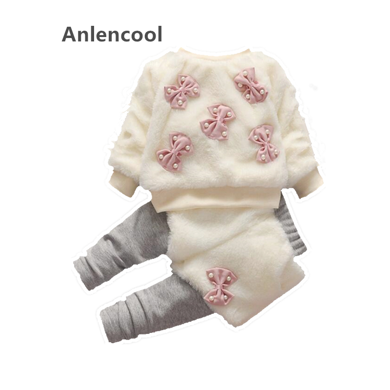 Anlencool baby girls fashion hot winter suit 2018 new girls 1-4 years infants and young children with winter cashmere clothing