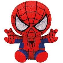 цена 15cm Stuffed Super Hero Plush Toy Marvel The Avengers Spiderman Captain America iron Man Stuffed Animal Kids Toy Christmas Gift онлайн в 2017 году