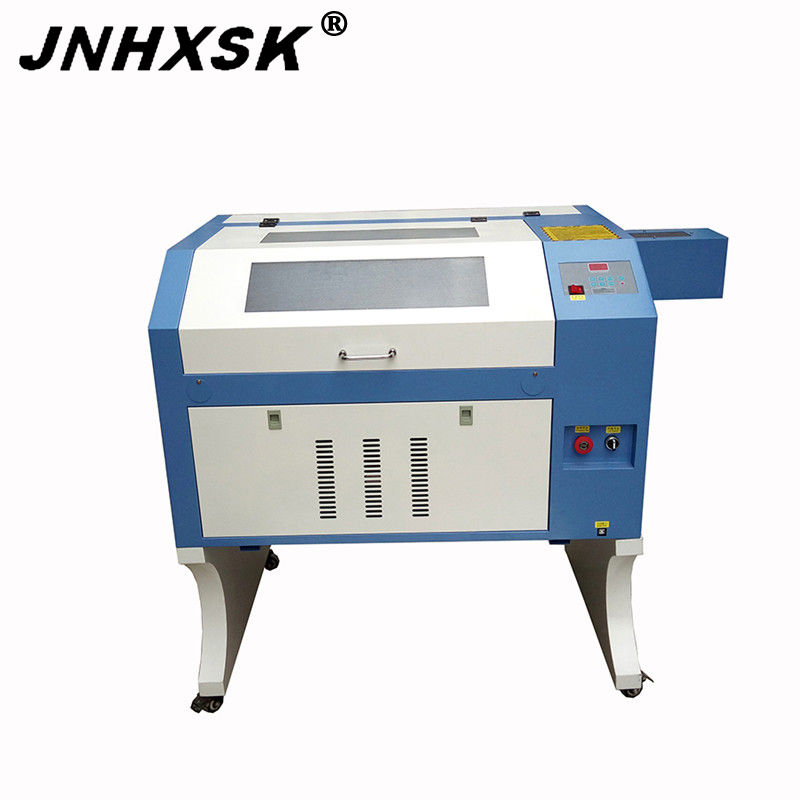 JNHXSK 80W/100W TS4060 Laser Engraving And Cutting Machine With RUIDA M2 System CO2 USB 2.0 Interface Red Dot Sensor CNC