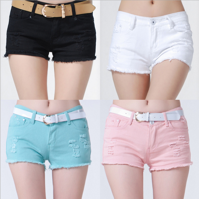 b2594ce8016a 2014 New Fashion Summer Denim Shorts For Women Hot Sale Women's Jeans Shorts  Colored 6 Colors Guaranteed Quality