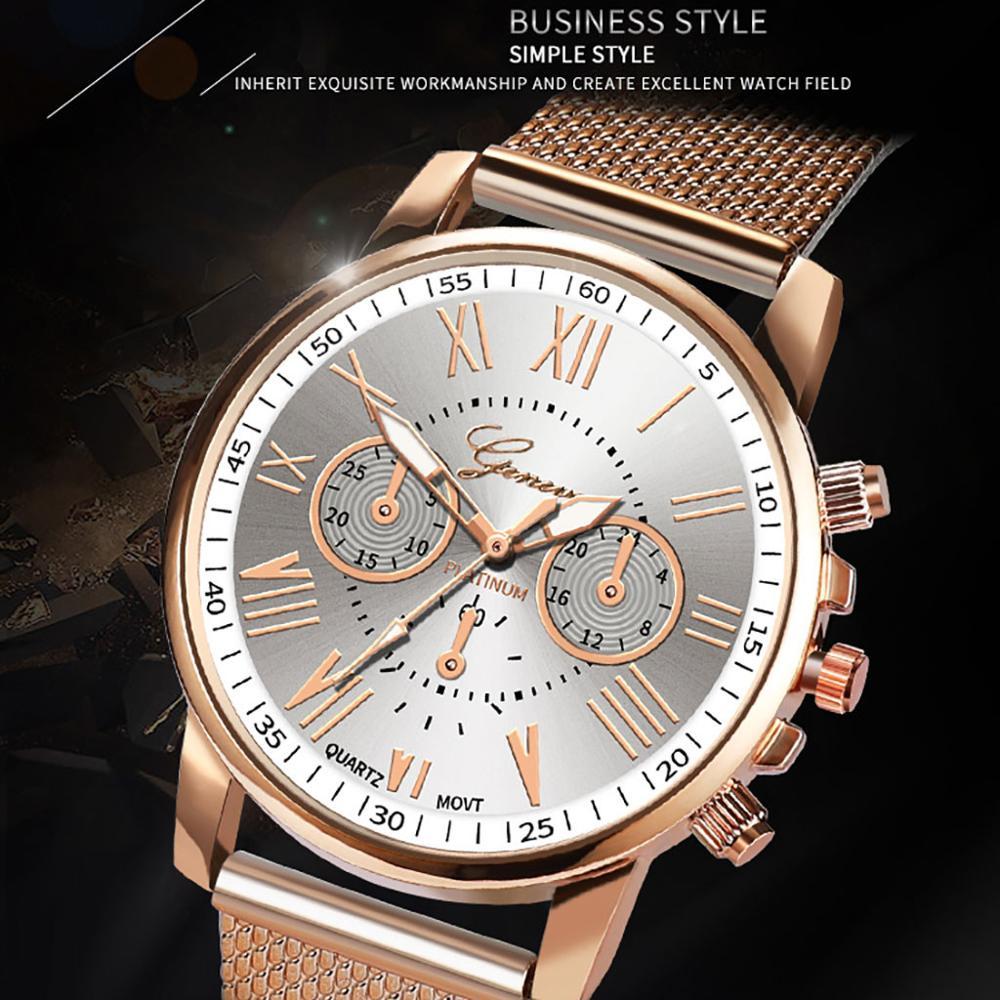 Bussiness Women's Watches Fashion Geneva Brand Roman Numeral Simple Clock Kol Saati Montre Femme Relogio Feminino Reloj Mujer@50