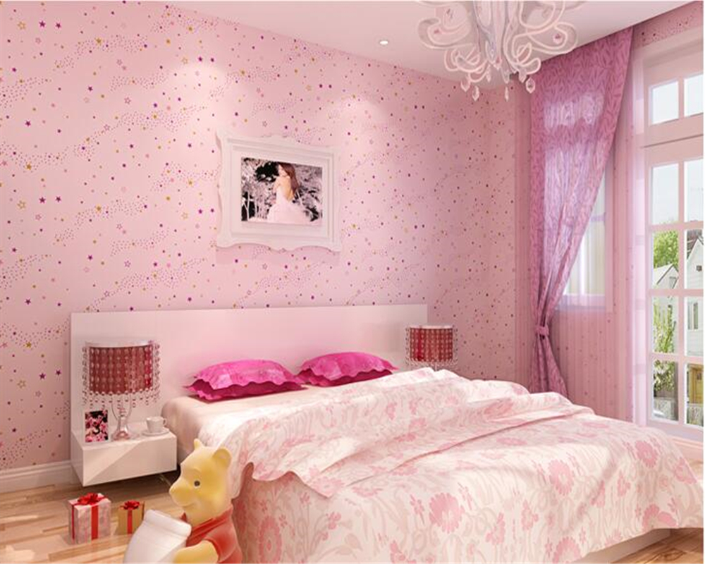 beibehang tapety Wallpaper Kids Room Nonwovens Star Cartoon Warm and Environmentally Friendly Bunny Background papel de parede beibehang nonwovens healthy fashion