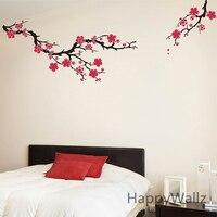 Plum Blossom Wall Sticker Beautiful Flowers Wall Decal Flower Wall Sticker DIY Decorating Wall Decor Hot Sale T20