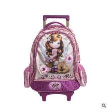 Kids School trolley backpack Children's Rolling Bag for school Travel  luggage school Bags For girls Trolley Backpacks On wheels