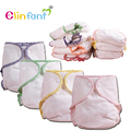 Elinfant  fitted diaper bamboo cotton super soft absorbent night AIO AI2 one size fit all#ES065#
