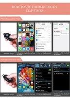 Беспроводной Bluetooth смартфон камера Пульт дистанционного управления затвором для селфи палка монопод Совместимость Android IOS iPhone X iPhone 8 4