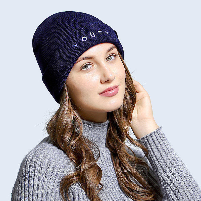 Hot Womens Ladies Autumn Winter Warm Knit Crochet Ski Hat Braided Baggy Beret Beanie Cap Black Gray Red Blue