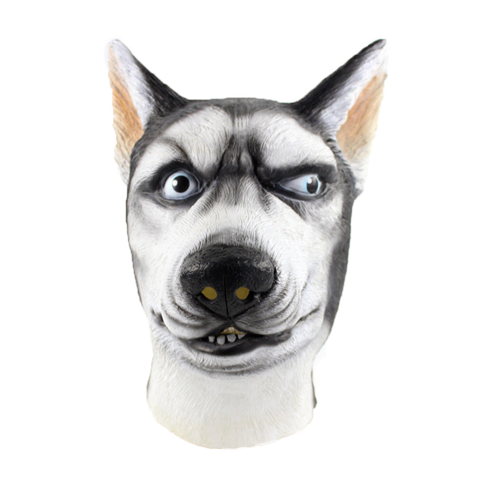 DOG NOSE Rubber Animal Costume Mask Toy Funny Joke Kid Wolf Gift Toy Elastic NEW