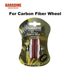 Buy online Baradine 473CL Road bike bicycle C-brake Caliper brake shoes pads for carbon fiber wheel bike parts