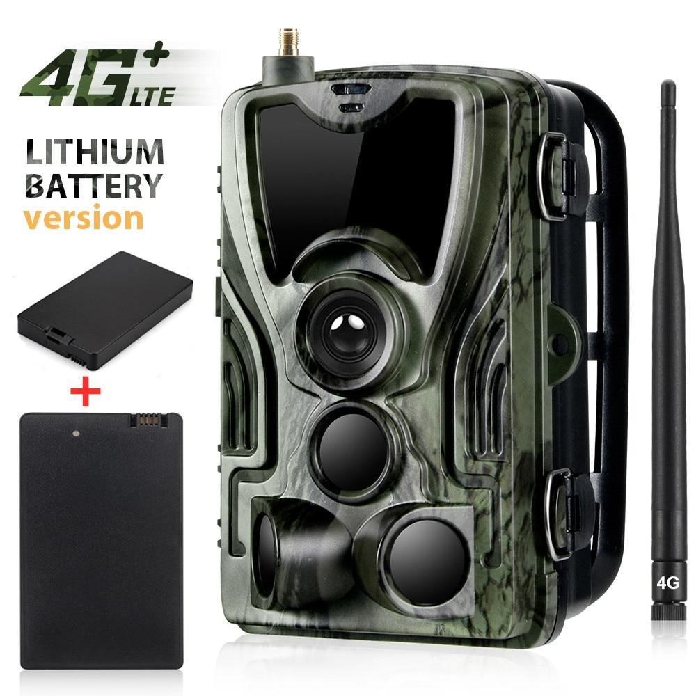 2 PCS 5000 Mah Carregador de Bateria 4G FTP SMTP MMS Caça Trail Camera Wildlife Vigilância Móvel Celular HC801LTELI 16MP 1080 P