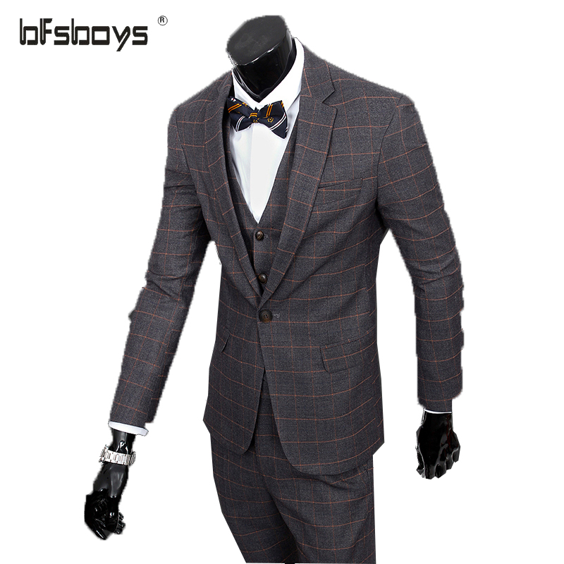 w wholesale plaid wool suit