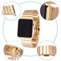 Alta qualidade para a apple watch ligação pulseira banda 42mm de prata de ouro de aço inoxidável pulseiras de relógio com a função de liberação rápida