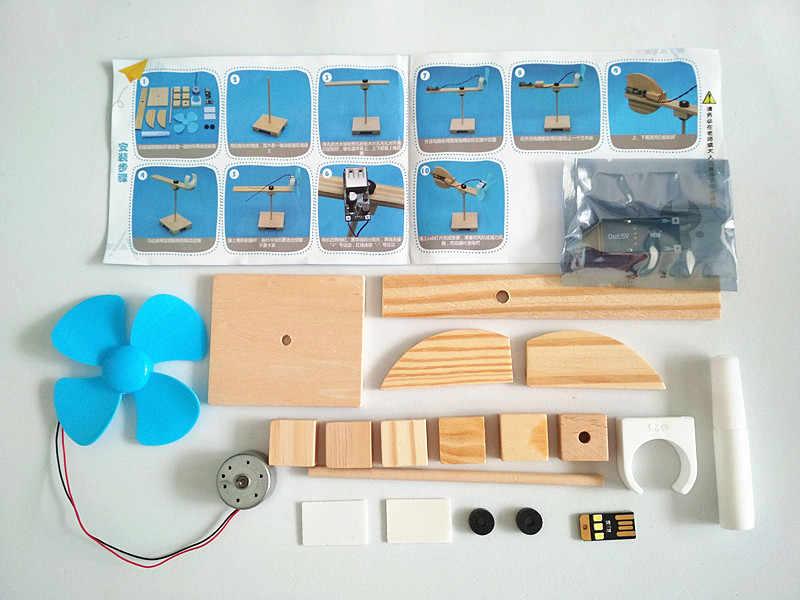 Happyxuan DIY Fisik Percobaan Sains Mainan Anak-anak Pendidikan STEM Kit Proyek Sekolah Discovery Anak Kayu Listrik Penemuan Hadiah