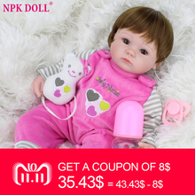 40cm Silicone Reborn Baby Doll kids Playmate Gift For Girls 16 Inch Baby Alive Soft Toys For Bebe Reborn Brinquedo Wholesale