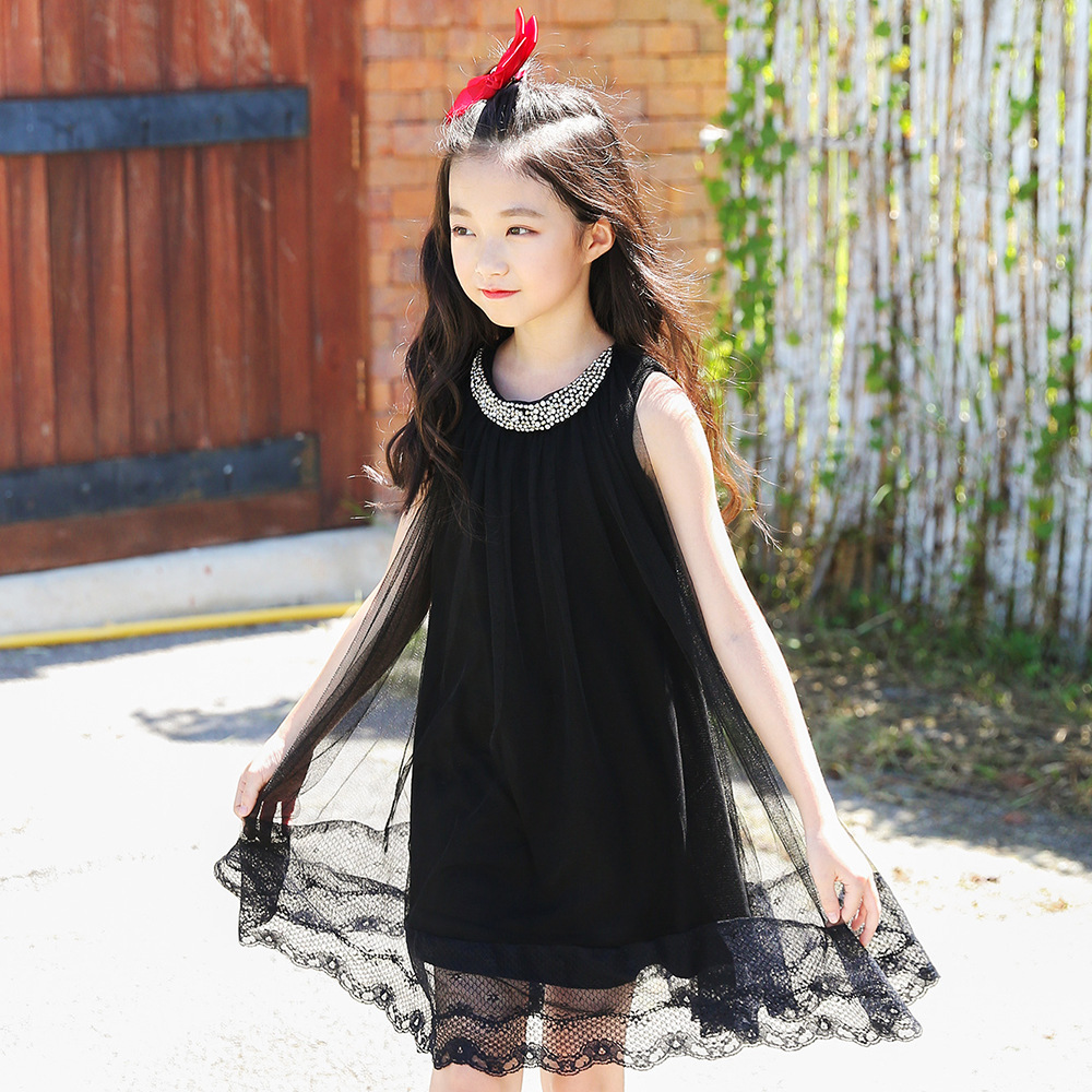 2018 New Fashion Baby Girls Dress Summer Girl Children Beach Dresses Kids Sleeveless Dress Girl Party Princess Clothing CC694 muqgew new fashion 2018 children party