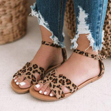 New Hot Ladies Sandals High Quality Fashion Leopard Snake Pattern 2019 Trend British Wind Casual