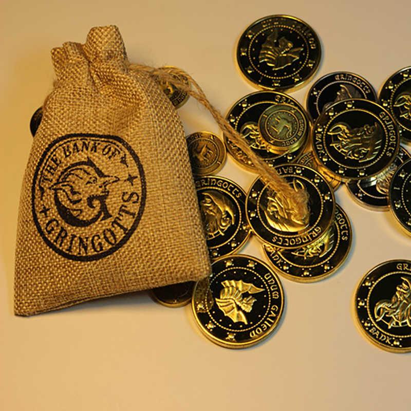 4 ชิ้น/เซ็ต Harry Bank เหรียญคอสเพลย์คอลเลกชันเหรียญ Wizarding World Noble ฮาโลวีนคริสต์มาสแฟนของขวัญ Harry Props