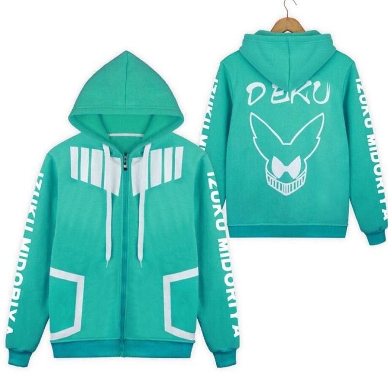 My Hero Academia Coat Jacket Boku No Hero Academia Hoodie Anime Cosplay Costume School Uniforms Mens Hoodies Sweatshirts