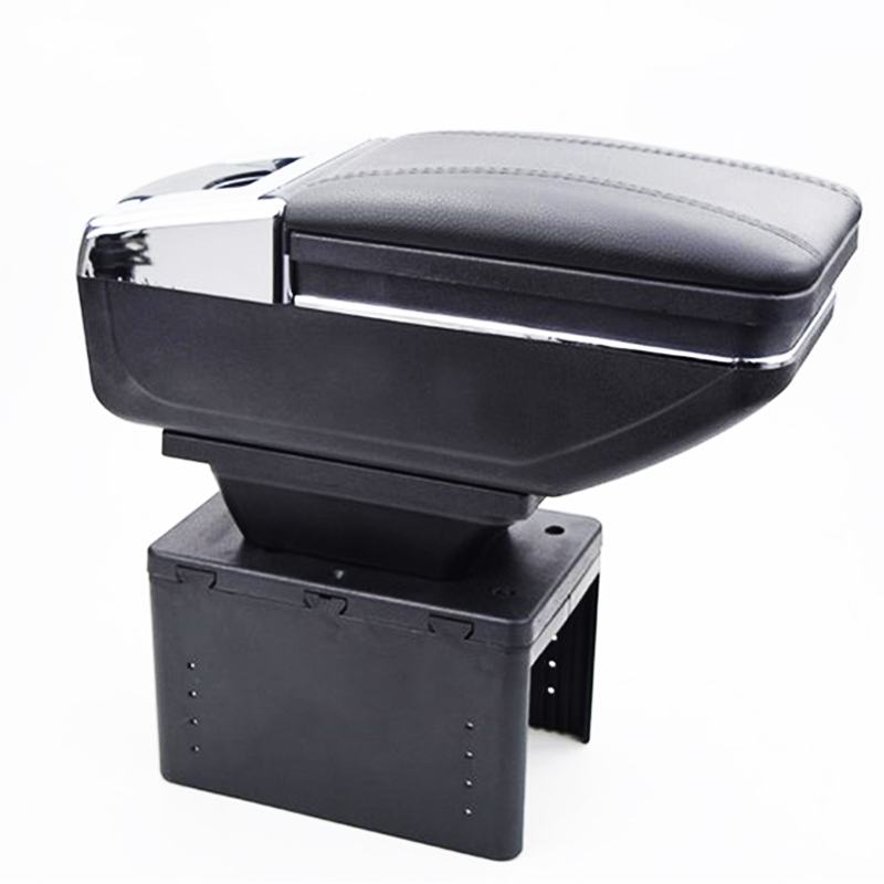 Universal PU Leather Car Central Container Armrest Box Car-Styling Store Content Cup Holder Accessories