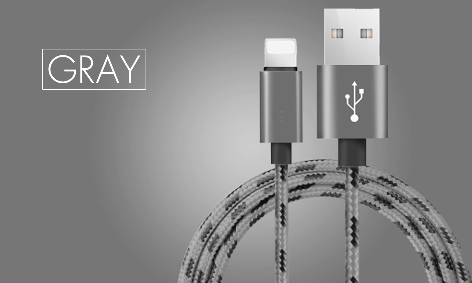 !ACCEZZ  Nylon USB Cable For Apple Fast Charging Data Sync Cord For iPhone X 7 6 8 5 Plus XR XS MAX Mobile Phone Charger Cables (14)