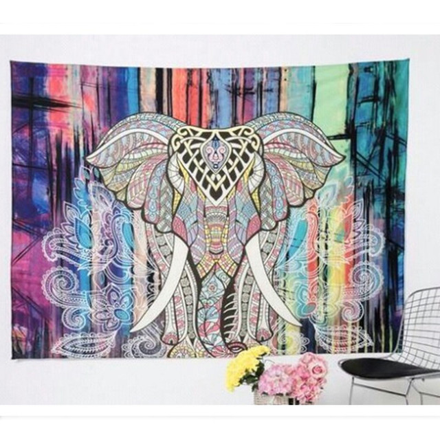 Elephant Tapestry Wall Hanging aliexpress : buy india elephant tapestry psychedelic tapestry