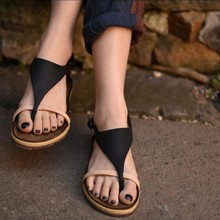 Original design handmade women shoes summer genuine leather women sandals personality fiip flops casual flat heels sandals B11-5