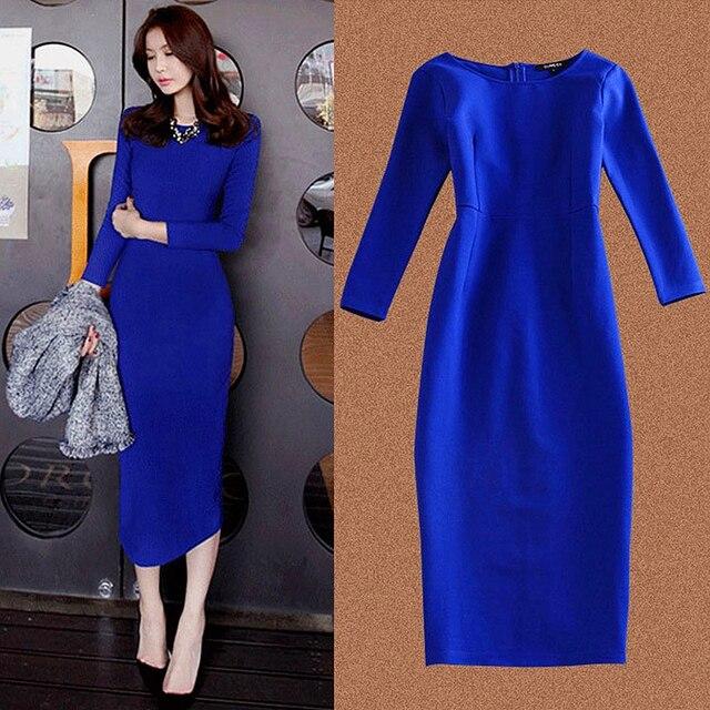 Womens Dresses Spring Autumn Long Sleeve Elegant Party Long Dresses Plus Size Casual Sexy Blue Black Office Dress Vestidos Robe