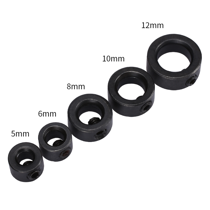 10PCS For Openbuilds Collar Locker CNC Machine Parts Shaft Lock Collar 5mm/6mm/8mm/10mm/12mm V Slot Linear Extrusion Pulley image