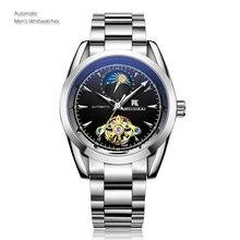 Классические Механические мужские деловые часы лучший бренд класса люкс высокого качества Moon Phase автоматические наручные часы Relogio Masculino Relojes