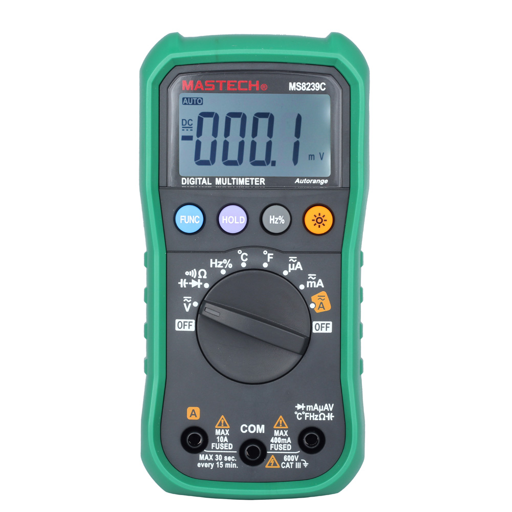 MASTECH MS8239C Auto Ranging Digital Multimeters w/Frequency Capacitance & Temperature Tester multimetro diagnostic-tool все цены