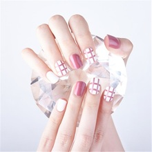 Elegant Wine Red Christmas New Year Fake Nails